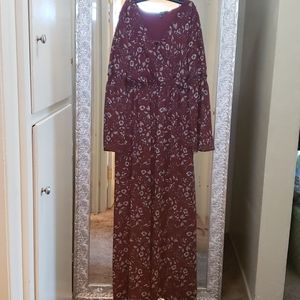Floral maxi with bell sleeves